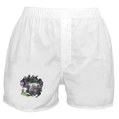Flower Kitten Boxer Shorts