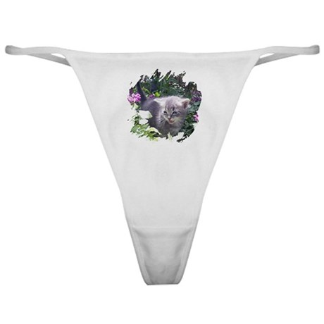 Flower Kitten Classic Thong