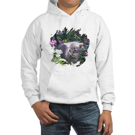 Flower Kitten Hooded Sweatshirt