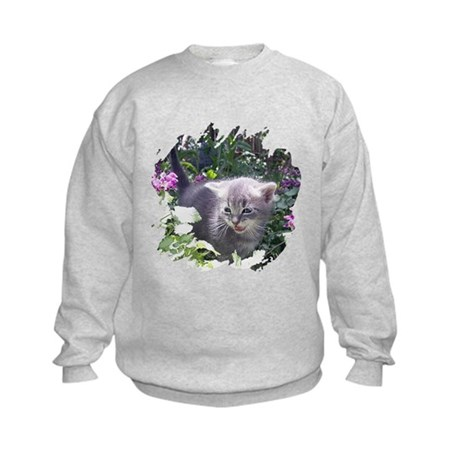 Flower Kitten Kids Sweatshirt