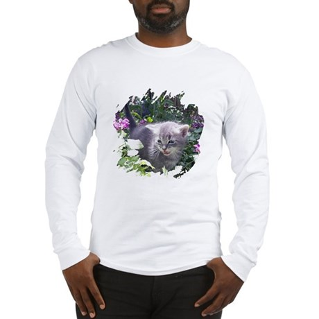 Flower Kitten Long Sleeve T-Shirt