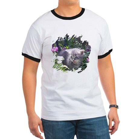 Flower Kitten Ringer T