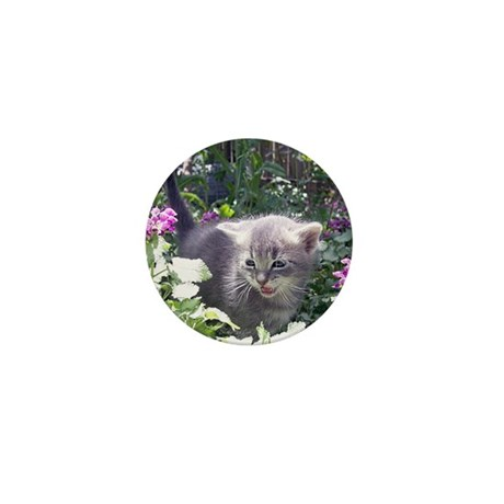 Flower Kitten Mini Button