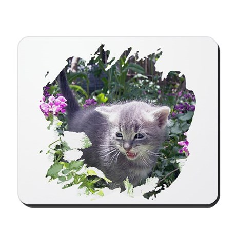 Flower Kitten Mousepad