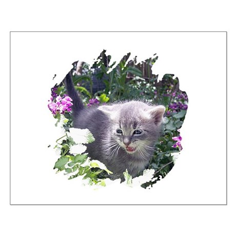 Flower Kitten Small Poster