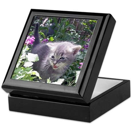 Flower Kitten Keepsake Box