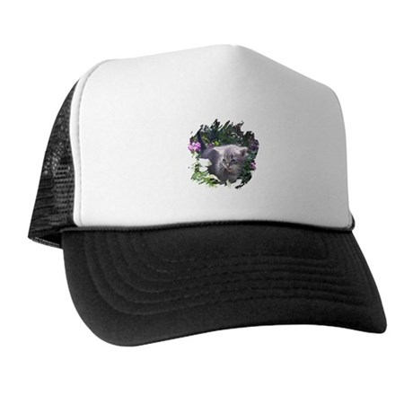 Flower Kitten Trucker Hat