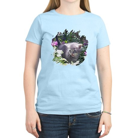 Flower Kitten Women's Light T-Shirt