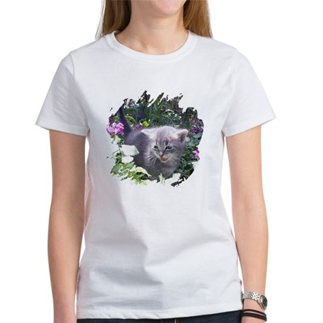Flower Kitten Women's T-Shirt
