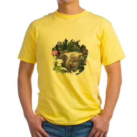 Flower Kitten Yellow T-Shirt