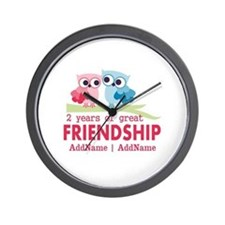 Gift For 2nd Anniversary Personalized Wall Clock