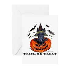 Scottie Witch Greeting Cards