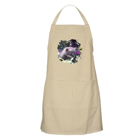 Gray Kitten BBQ Apron