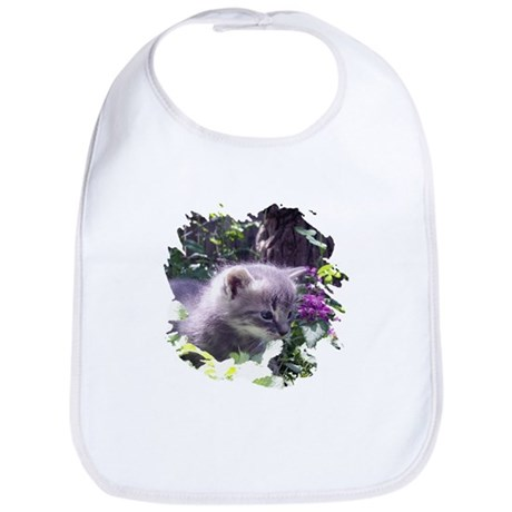 Gray Kitten Bib