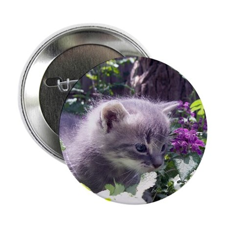Gray Kitten Button