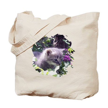 Gray Kitten Tote Bag