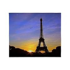 Eiffel Tower Sunset Throw Blanket