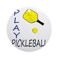 Play pickleball Ornament (Round)