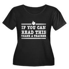 Read this thank a teacher Plus Size T-Shirt