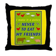 Vegetarian Gift Throw Pillow
