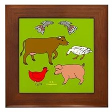 Vegetarian Gift Framed Tile
