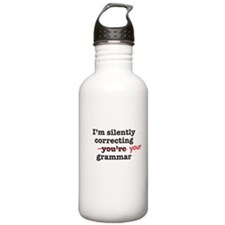 Silently correcting grammar Water Bottle