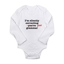Silently correcting grammar Body Suit