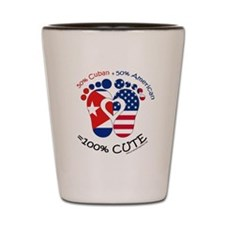 Cuban American Baby Shot Glass