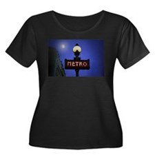 Full Moon Paris Metro Plus Size T-Shirt