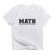 MATH is Mental Abuse To Humans Infant T-Shirt