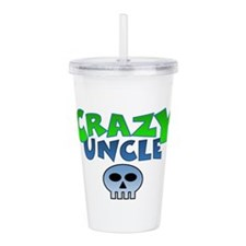 CrazY uncle skull Acrylic Double-wall Tumbler