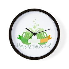 Happy St. Patty's Day! Wall Clock