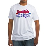 Grandkids - All the fun! Fitted T-Shirt