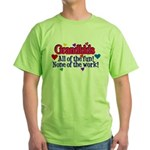 Grandkids - All the fun! Green T-Shirt