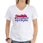 Grandkids - All the fun! Women's V-Neck T-Shirt