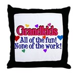 Grandkids - All the fun! Throw Pillow
