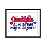 Grandkids - All the fun! Framed Panel Print