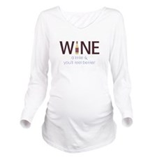 Wine a Little Long Sleeve Maternity T-Shirt