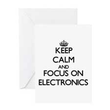 Keep Calm and focus on ELECTRONICS Greeting Cards
