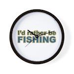 I'd Rather be Fishing Fish Wall Clock