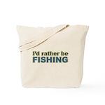 I'd Rather be Fishing Fish Tote Bag