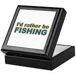 I'd Rather be Fishing Fish Keepsake Box