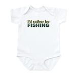 I'd Rather be Fishing Fish Infant Bodysuit