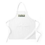 I'd Rather be Fishing Fish BBQ Apron