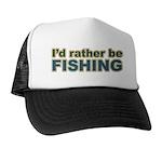 I'd Rather be Fishing Fish Trucker Hat