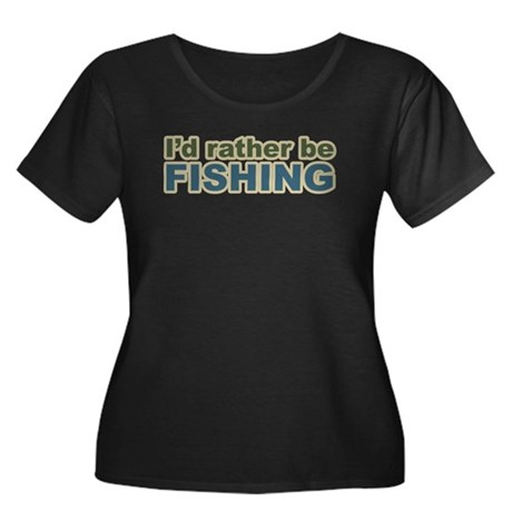 I'd Rather be Fishing Fish Women's Plus Size Scoop