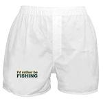 I'd Rather be Fishing Fish Boxer Shorts