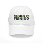 I'd Rather be Fishing Fish Cap