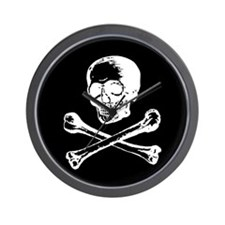 Masonic Skull and Crossbones Wall Clock