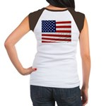USA Flag Design on Back T-Shirt